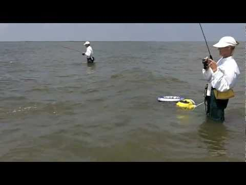 Wade Fishing Whiskey Pass, LA, for Speckled Trout
