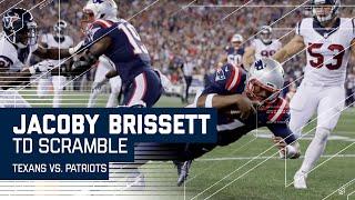 Jacoby Brissett Fakes the Handoff & Scrambles for a TD! | Texans vs. Patriots | NFL by NFL