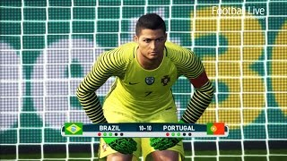 Video PES 2017 | goalkeeper NEYMAR vs goalkeeper C.RONALDO | Penalty Shootout | Brazil vs Portugal MP3, 3GP, MP4, WEBM, AVI, FLV November 2017