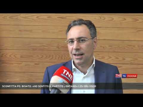 SCONFITTA PD, BISATO: «HO SENTITO IL PARTITO LONTANO» | 25/09/2020