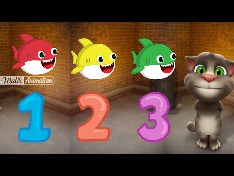 TOM Belajar menghitung bayi hiu 1 Sampai 20 untuk anak PAUD TK Fan animation