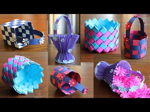4 Beautiful Paper Basket- DIY Basket - Paper Craft - Home Decor