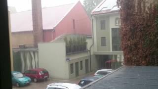 Gyula Hungary  city photos : Jégeső Gyulán / Hail storm in Gyula, Hungary