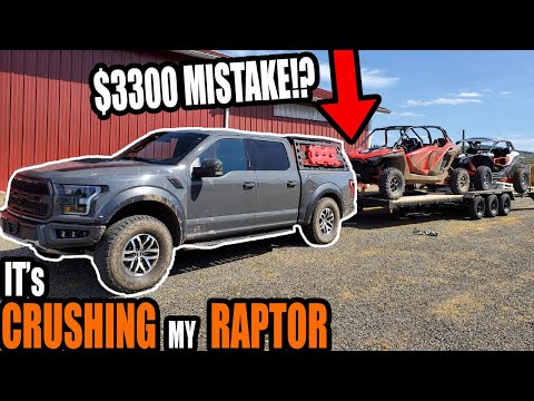 Ford Raptor Towing Issues SOLVED! Was my new Trailer a BAD BUY?