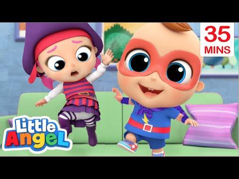 We Like To Jump, Jump, Jump! | Play Safe Song + More | Little Angel Kids Songs & Nursery Rhymes