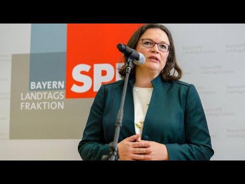 Nahles verteidigt die Koalition im Fall Maaßen, Kohne ...
