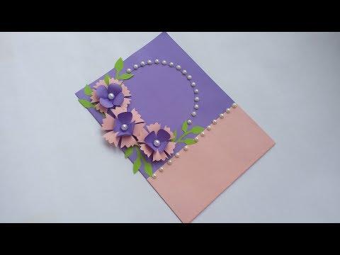 Birthday greetings - DIY: Handmade Greeting Card!! How to Make Paper Card for birthday/Greetings/Valentine day/Eid card!!