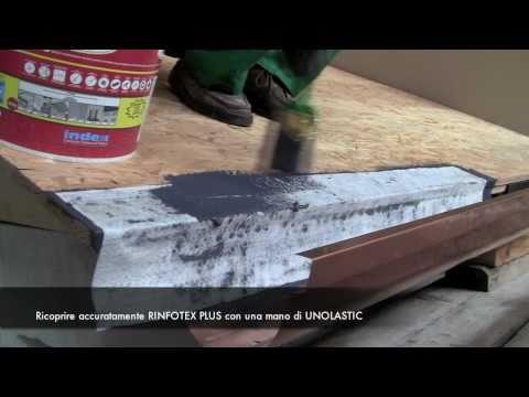 UNOLASTIC - INDEX SpA - Come impermeabilizzare un tetto e il raccordo con la grondaia con UNOLASTIC
