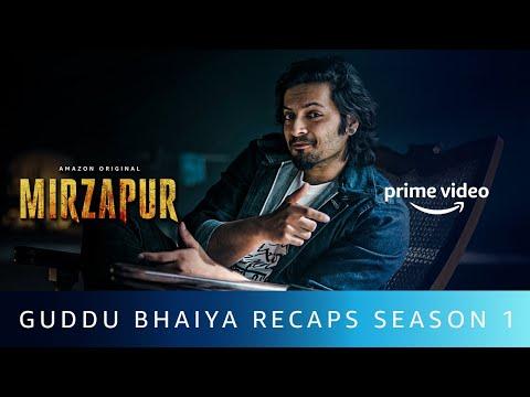 Guddu Bhaiya Recaps Mirzapur   Ali Fazal   Amazon Original   Oct 23