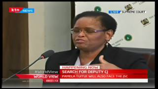 Happening Now: Martha Koome being interviewed by the JSC for the Deputy Chief Justice position