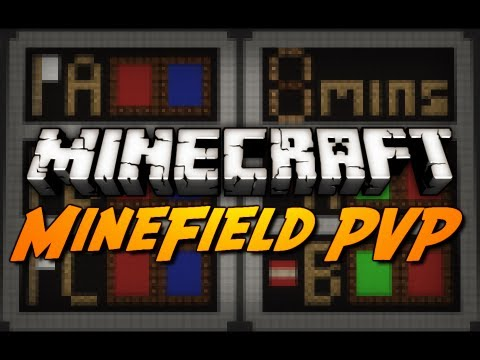 Minecraft Mini-Game: MINEFIELD! - Battlefield PVP Arena - 3 Game Types!
