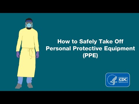 Demonstration of Doffing (Taking Off) Personal Protective Equipment (PPE)