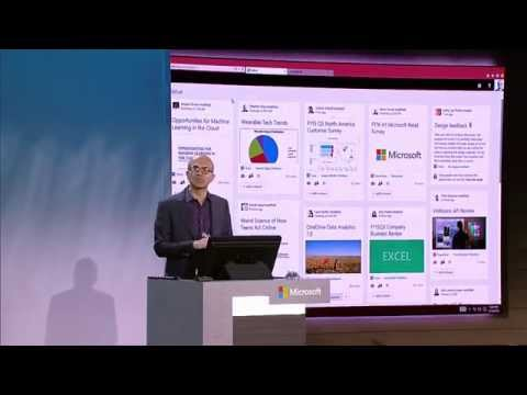 Convergence 2015 Satya Nadella, CEO of Microsoft - How I use Delve every DAY!