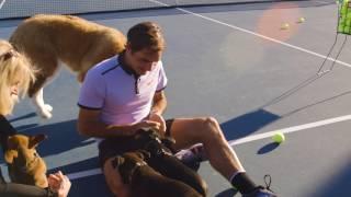 Roger Federer Puppy Surprise!