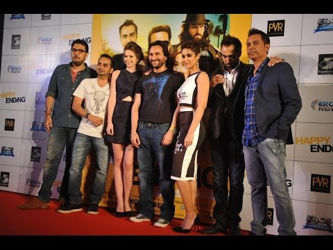 Saif Ali Khan, Ileana D'cruz At Trailer Launching Of Movie Happy Ending