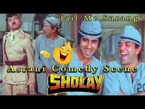 """""""Jail Me Surang"""" Asrani Comedy Scene From Sholay Hindi Movie"""