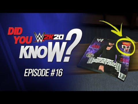 WWE 2K20 Did You Know?: Magazine Easter Eggs, Leftover Assets, Patch Hair Glitch & More (Episode 16)