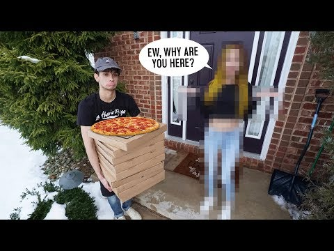DELIVERING PIZZAS To My CRUSH HOUSE! (bad Idea)