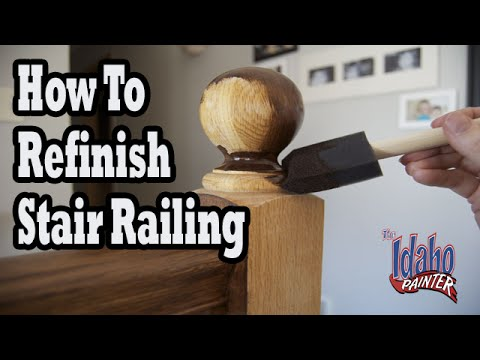 How To Refinish Wood Hand Railing.  Hacks Staining Stair Spindles.