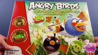 PLAYING 3 ANGRY BIRDS PIECES MEGA SMASH GAME!!!