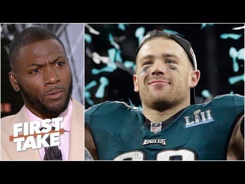 Video: Zach Ertz will lead NFL in touchdown catches this season - Ryan Clark | First Take