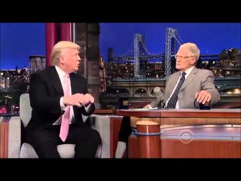 Donald Trump on David Letterman 17 October, 2013 Full Interview