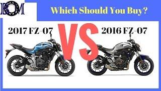 9. Yamaha FZ-07/MT-07 2016 vs 2017