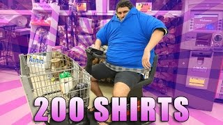 Video WEARING 200 SHIRTS IN THE GROCERY STORE MP3, 3GP, MP4, WEBM, AVI, FLV Juli 2018