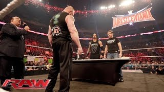 Nonton Dean Ambrose Confronts Brock Lesnar During Their Wwe Fastlane Contract Signing  Raw  Feb  8  2016 Film Subtitle Indonesia Streaming Movie Download