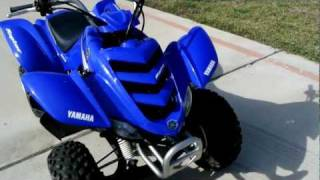 4. 2005 Yamaha Raptor 50 Blue