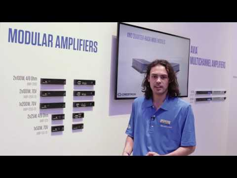 Crestron Enterprise Audio Solutions – Amplifiers at InfoComm 2017