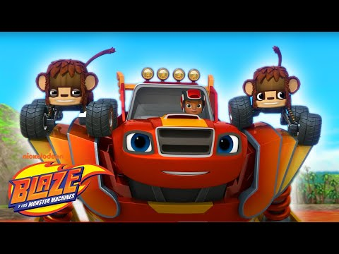 Blaze Robots Rescue Animals From Lava! | Blaze and the Monster Machines