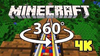 Minecraft [VR] 360° 4K 60 Fps - ROLLER COASTER | Jungle Rush