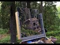 Plein Air Painting Adventures - Ep28 - Painting A Log Cabin In The Boreal Forest