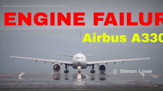 Jet engine explodes during takeoff  roll, Airbus A330.