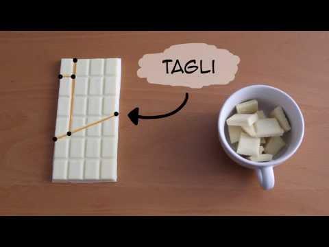 il trucco svelato del taglio ''infinito'' della cioccolata.
