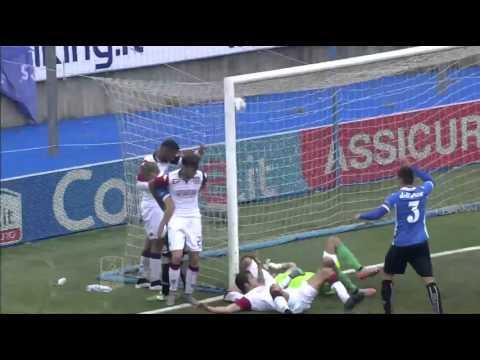 novara-cagliari 1-0 17/10/2015 - highlights