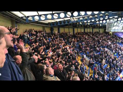 Chelsea Away - West Ham United Fans At Stamford Bridge