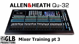 The third and final part in a series of videos on the A&H Qu-32 digital mixing console. This video was filmed whilst training a group ...