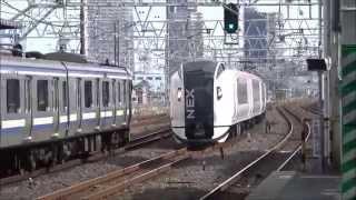 【通過シーン集#27】総武本線 市川駅(速度付き)