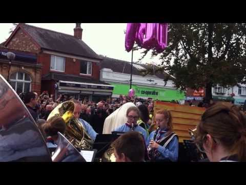 Frank Sidebottom , The opening of the statue , Timperley