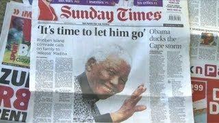 nelson mandela mort : Les Sud-Africains Se Préparent Mentalement à La Mort De Mandela