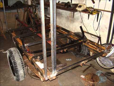 Carretinha feita na garagem