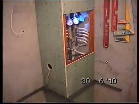 Сантехнический шкаф из гипсокартона своими руками видео