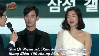Video [Việtsub][31.12.2014] Kim Soo Hyun and Jun Ji Hyun Best Couple [SBS Drama Awards 2014] MP3, 3GP, MP4, WEBM, AVI, FLV Maret 2018