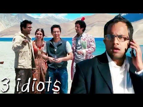 फुन्सुक वांगडू   Climax Scene Of 3 Idiots   Aamir Khan, Kareena Kapoor, R. Madhavan, Sharman Joshi
