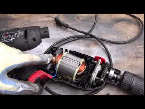 How to disassemble electric drill and find the error issue