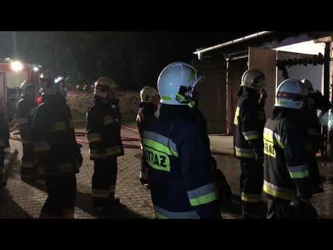 Wideo1: Pożar garaży w Danko
