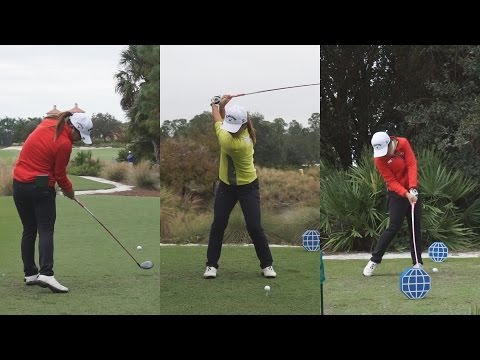 LYDIA KO – 2014 CME PRACTICE FOOTAGE – GOLF SWING SLOW MOTION 1080p HD