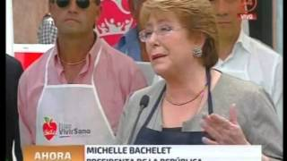 Presidenta Michelle Bachelet en Ruta Saludable Feria Independencia